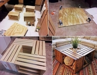 DIY Wooden Boxes into Tables