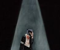 Painting of Michael Jackson Performing Billie Jean