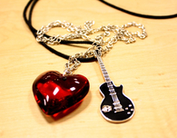 I love Rock Music Necklace
