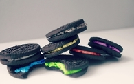 Colorful oreo cookies