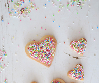 Heart candy cookies