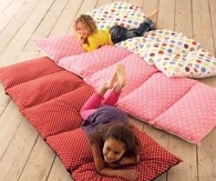 Floor cushions out of pillowcases