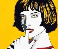 Pop Art Portrait of Woman