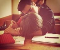 Classroom cuddle