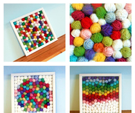 DIY Yarn Scrap Idea
