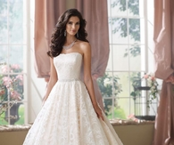 Strapless Hemline Ball Gown Wedding Dress