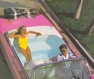 Pink Cadillac with Swimming Pool Backseat