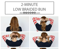 2 minute low braided bun