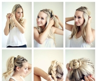 DIY BRAIDED BUN TUTORIAL