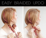 DIY Easy Braided Updo