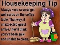 Funny Housekeeping Tip