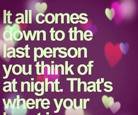 The last person you think about