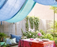 Boho Outdoor Dining Area