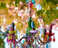 Colorful Crystal Chandelier