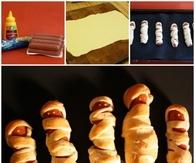 DIY Mummy Hot Dogs