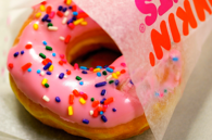 Pink icing donut