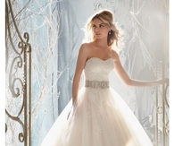 Strapless Sweetheart Wedding Gown with Full Skirt
