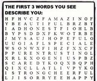 First three Words