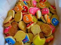 Pacman ghost cookies