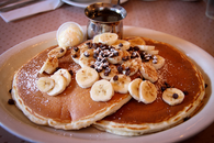 Banana pancakes with chocolate chips