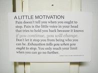 A little motivation