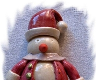 DIY Dough Snowman Ornament Scuplture
