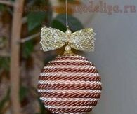 DIY Christmas Ball Ornament