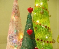 DIY String Christmas Trees