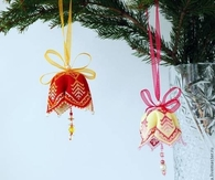 DIY Fabric Christmas Bell Ornaments