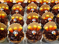 Thanksgiving Cupcake Turkeys