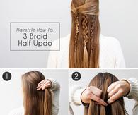 3 braid half updo