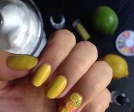 citrus lemon manicure nails