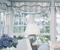 Pretty Soft Blue & White Living Room