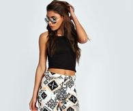 Aztec Pants with Cropped Top & Sandals