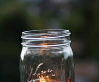 Autumn leaves in a jar