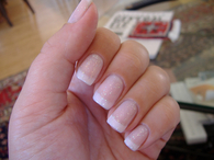 Glitter manicure nails