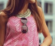 Herringbone pattern dress