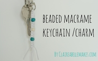 Beaded macrame key chain