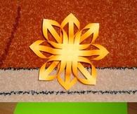 DIY Paper Strips Snowflakes