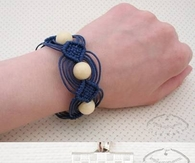 DIY Macrame Beads Bracelet