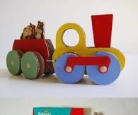 DIY Cardboard Train