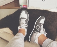 Grey and white new balance