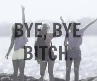 Bye bye bitch