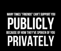 Publicly and privately