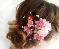 Cherry Blossom Hair Combs