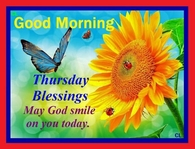 Good Morning Thursday Blessing