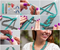 DIY Woven Bead Necklace