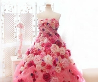 Beautiful Pink Gown of Roses