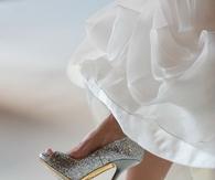 Silver Glitter Wedding Pumps