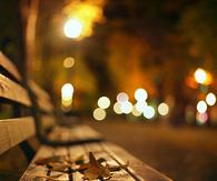 City bench bokeh